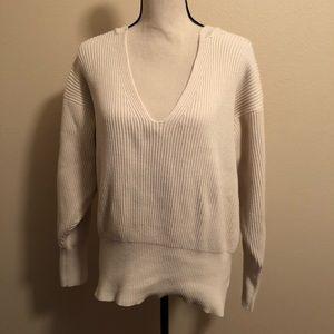 Free People Chunky Cream Sweater